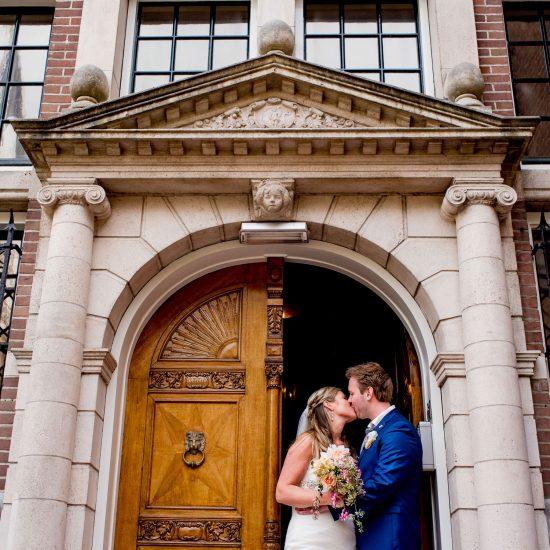 Bruiloft Elin en Barry - de kus